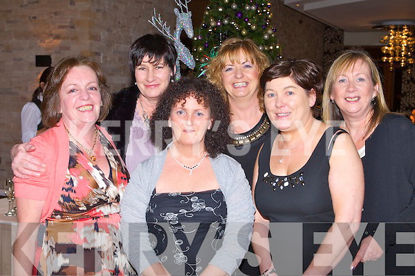 CHRISTMAS BELLES: The former staff of John Shields Hairdressers, Tralee enjoying a get together at the Christmas party at the Carlton hotel, Tralee on Saturday l-r: Martha O'Sullivan, Collette Linehan, Theresa O'Sullivan, Maureen Flemming, Deborah Barrett and Shaine Lonergan.