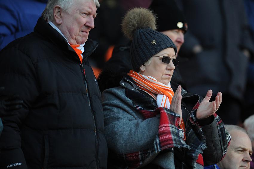 Blackpool fans enjoy the pre-match atmosphere <br /> <br /> Photographer Kevin Barnes/CameraSport<br /> <br /> Emirates FA Cup Second Round - Blackpool v Maidstone United - Sunday 1st December 2019 - Bloomfield Road - Blackpool<br />  <br /> World Copyright © 2019 CameraSport. All rights reserved. 43 Linden Ave. Countesthorpe. Leicester. England. LE8 5PG - Tel: +44 (0) 116 277 4147 - admin@camerasport.com - www.camerasport.com