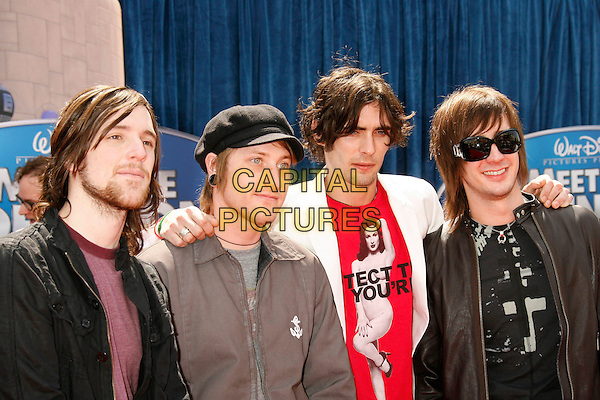 "NICK WHEELER & The All-American Rejects .Attending the ""Meet The Robinsons"" Los Angeles Premiere held at the El Capitan Theatre, Hollywood, California, USA, 25 March 2007..half length band group D & G sunglasses Dolce and Gabbana.CAP/ADM/RE.©Russ Elliot/AdMedia/Capital Pictures."