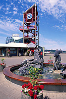 Port Alberni, BC, Vancouver Island, British Columbia, Canada - Harbour Quay Clock Tower, Pub and Bistro