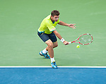 Stanislas Wawrinka of Switzerland at the Western & Southern Open in Mason, OH on August 18, 2012.