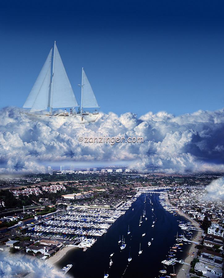 Marina; Newport Beach; CA; Sailing;