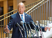 United States Representative Elijah Cummings (Democrat of Maryland), Ranking Member, US House Select Committee to investigate the 2012 Benghazi attack, makes a statement to the press as he arrives in the US Capitol in Washington, DC on Friday, September 4, 2015 to hear the deposition of Jake Sullivan.<br /> Credit: Ron Sachs / CNP<br /> (RESTRICTION: NO New York or New Jersey Newspapers or newspapers within a 75 mile radius of New York City)