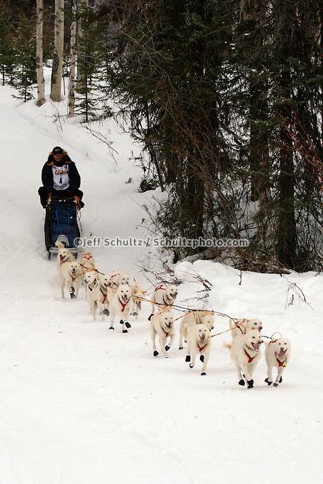 Jim Lanier Willow restart Iditarod 2008.
