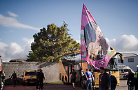 Antwan Tolhoek (NED/Jumbo-Visma) has the biggest fanflag of the whole Giro... big as a bus!<br /> <br /> Stage 6: Cassino to San Giovanni Rotondo (233km)<br /> 102nd Giro d'Italia 2019<br /> <br /> ©kramon