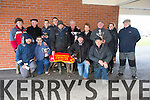 ALL AGE: Carefull Betty winning bitch of the All Age Bitch Stake at the second day of the Kingdom Cup Coursing at Ballybeggan Racecourse on Saturday. Pictured Ciaran O'Brien, John Reidy, Stephen Reidy, Mick Sullivan, Moss Leen, Ted O'Sullivan, Dan O'Connor, Dan Sullivan, Moss Connor, David Reidy, Mary O'Sullivan,  Mikey Reidy, Catherine O'Sullivan,  Patsy Joy