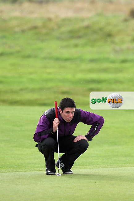 Day one of the Irish PGA championship at Seapoint Golf Club, Rory Doran, Royal County Down Golf Club on the 9th green....Picture Jenny Matthews/Newsfile.ie