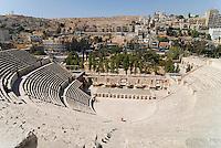 JORDAN, Amman, roman theatre / JORDANIEN, Amman, roemisches Amphi-Theater