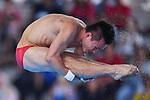 Qiu Bo (CHN), <br /> SEPTEMBER 1, 2018 - Diving : Men's 10m Platform Preliminary at Gelora Bung Karno Aquatic Center during the 2018 Jakarta Palembang Asian Games in Jakarta, Indonesia. <br /> (Photo by MATSUO.K/AFLO SPORT)