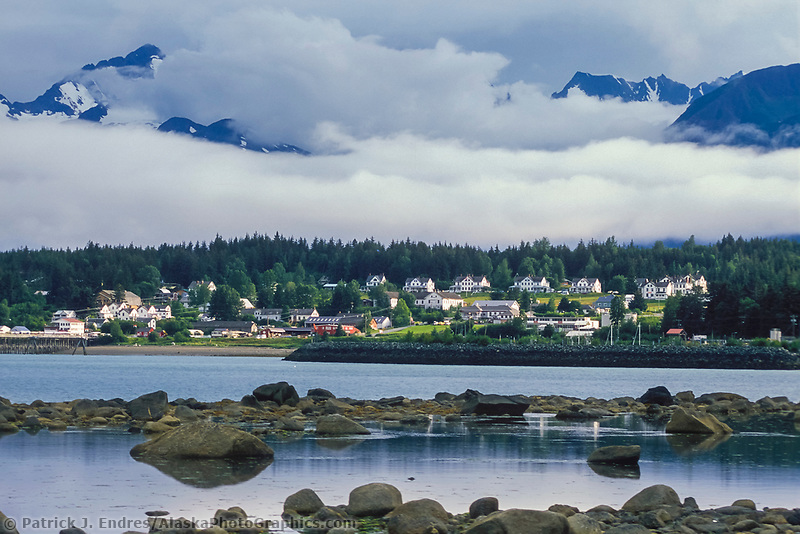Fort Seward on the hillside of Haines, Alaska