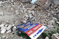 - Marche, macerie a Visso dopo il terremoto dell'ottobre/novembre 2016<br /> <br /> - Marche region, ruins in Visso after the earthquake of October / November 2016