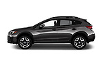 Car driver side profile view of a 2018 Subaru Crosstrek Limited CVT 5 Door SUV