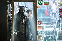 The Dark Tower (2017) <br /> Roland (Idris Elba) and Jake (Tom Taylor) <br /> *Filmstill - Editorial Use Only*<br /> CAP/KFS<br /> Image supplied by Capital Pictures