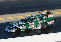 Apr. 13, 2012; Concord, NC, USA: NHRA funny car driver John Force during qualifying for the Four Wide Nationals at zMax Dragway. Mandatory Credit: Mark J. Rebilas-