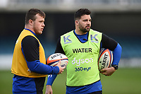 Bath Rugby Academy Head of Athletic Development Ben Coker looks on during the pre-match warm-up. Premiership Rugby Shield match, between Bath United and Gloucester United on April 8, 2019 at the Recreation Ground in Bath, England. Photo by: Patrick Khachfe / Onside Images