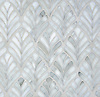 Margot, a water jet cut mosaic, is  shown in Alabaster jewel glass.