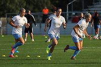 Piscataway, NJ - Saturday August 26, 2017: Pre-game activities prior to a regular season National Women's Soccer League (NWSL) match between Sky Blue FC and the Boston Breakers at Yurcak Field.  Sky Blue took an early lead on Sam Kerr's record-tying goal, and hung on for a 1-0 win.