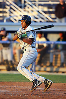 June 23rd 2008:  Catcher Miguel Fermin of the Jamestown Jammers, Class-affiliate of the Florida Marlins, during a game at Dwyer Stadium in Batavia, NY.  Photo by:  Mike Janes/Four Seam Images