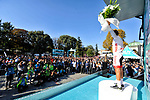 Onur Balkan (TUR) Turkish National Team wins he Vestel White Jersey for victory in the &ldquo;Beauties of Turkey&rdquo; sprints classification on the podium at the end of Stage 6 of the Presidential Cycling Tour of Turkey 2017 running 143.7km from Istanbul to Istanbul, Turkey. 15/10/2017.<br /> Picture: Brian Hodes/VeloImages | Cyclefile<br /> <br /> <br /> All photos usage must carry mandatory copyright credit (&copy; Cyclefile | Brian Hodes/VeloImages)