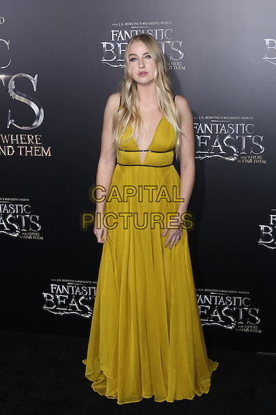 NEW YORK, NY - NOVEMBER 10: Veronica Dunne at the World Premiere of Fantastic Beasts and Where to Find Them at Alice Tully Hall on November 10, 2016 in New York City.   <br /> CAP/MPI/DIE<br /> &copy;DIE/MPI/Capital Pictures
