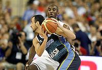 USA's Kobe Bryant (b) and Argentina's Emanuel Ginobili during friendly match.July 22,2012. (ALTERPHOTOS/Acero) /NortePhoto.com*<br /> **CREDITO*OBLIGATORIO** <br /> *No*Venta*A*Terceros*<br /> *No*Sale*So*third*<br /> *** No Se Permite Hacer Archivo**