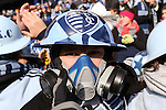 07 December 2013: Kansas City fan. MLS Cup 2013 was played between Sporting Kansas City and Real Salt Lake at Sporting Park in Kansas City, Kansas. Sporting Kansas City won the championship by winning the penalty kick shootout 7-6 after the game ended in a 1-1 tie.