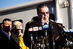 SAN BRUNO, CA - SEPTEMBER 10: San Bruno Mayor Jim Ruane speaks at a press conference September 10, 2010 in San Bruno, California. A massive explosion rocked a neighborhood near San Francisco International Airport, destroying 37 homes, killing at least 4 people, and injuring at least 50.