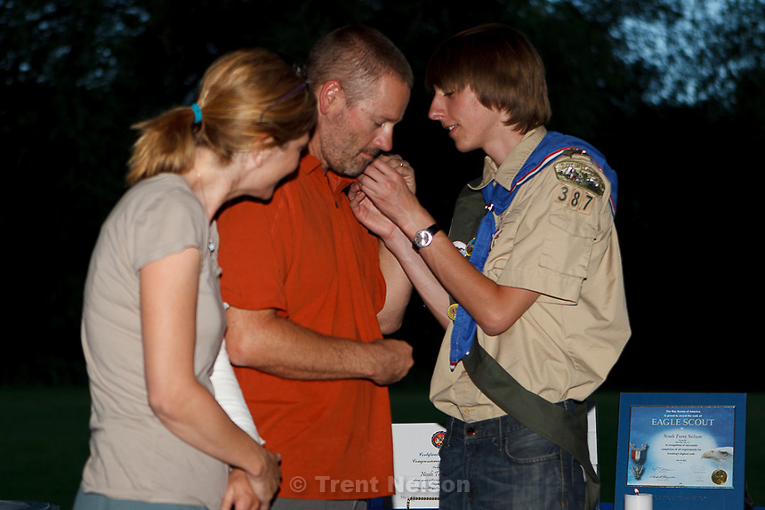 noah nelson eagle scout court of honor in Salt Lake City, Utah Sunday, July 22, 2012. Laura Nelson trent nelson