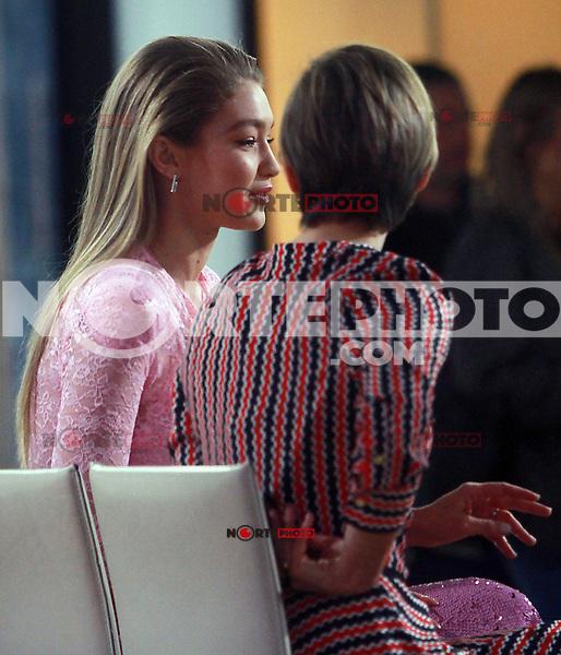 NEW YORK, NY - NOVEMBER 13: Gigi Hadid seen on NBC's Today Show In New York City on November 13, 2017. Credit: RW/MediaPunch /NortePhoto.com