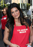 Los Angeles, CA - NOVEMBER 23: Jennifer Jimenez, At Los Angeles Mission Thanksgiving Meal For The Homeless At Los Angeles Mission, California on November 23, 2016. Credit: Faye Sadou/MediaPunch