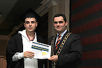 Mayor Kevin Callan presents Stephen Connor with his ESLO Certificate in the Westcourt Hotel...(Photo credit should read Jenny Matthews www.newsfile.ie)....This Picture has been sent you under the conditions enclosed by:.Newsfile Ltd..The Studio,.Millmount Abbey,.Drogheda,.Co Meath..Ireland..Tel: +353(0)41-9871240.Fax: +353(0)41-9871260.GSM: +353(0)86-2500958.email: pictures@newsfile.ie.www.newsfile.ie.