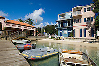 Ferry dock and shops<br /> Cruz Bay<br /> St. John<br /> US Virgin Islands