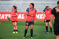 Kansas City, MO - Thursday August 10, 2017: Sydney Leroux during a regular season National Women's Soccer League (NWSL) match between FC Kansas City and the North Carolina Courage at Children's Mercy Victory Field.