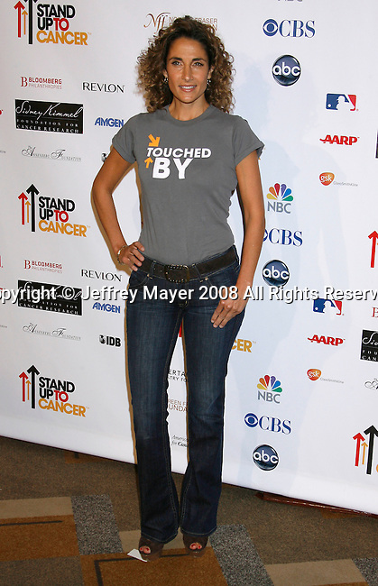 HOLLYWOOD, CA. - September 05: Actress Melina Kanakaredes arrives at Stand Up For Cancer at The Kodak Theatre on September 5, 2008 in Hollywood, California.
