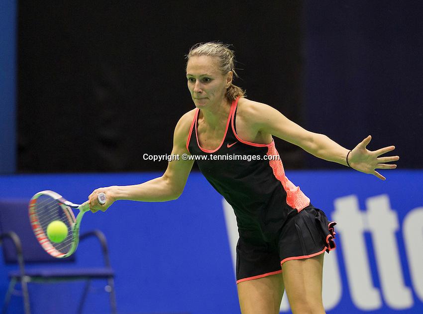 Rotterdam, Netherlands, December 18, 2015,  Topsport Centrum, Lotto NK Tennis, Olga Kalyuzhnaya (NED)<br /> Photo: Tennisimages/Henk Koster