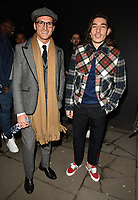 Oliver Proudlock and Hector Bellerin at the LFW (Men's) a/w2018 Oliver Spencer catwalk show, BFC Show Space, The Store Studios, The Strand, London, England, UK, on Saturday 06 January 2018.<br /> CAP/CAN<br /> &copy;CAN/Capital Pictures