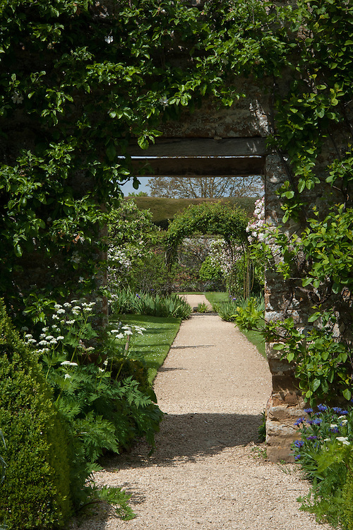 The walled garden, Rousham House and Garden.