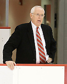 Jack Parker (BU - Head Coach) - The visiting Merrimack College Warriors tied the Boston University Terriers 1-1 on Friday, November 12, 2010, at Agganis Arena in Boston, Massachusetts.