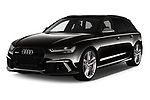 2019 Audi RS 6 Avant Base 5 Door Wagon angular front stock photos of front three quarter view