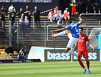 Victor Palsson (SV Darmstadt 98) klaert - 04.08.2019: SV Darmstadt 98 vs. Holstein Kiel, Stadion am Boellenfalltor, 2. Spieltag 2. Bundesliga<br /> DISCLAIMER: <br /> DFL regulations prohibit any use of photographs as image sequences and/or quasi-video.
