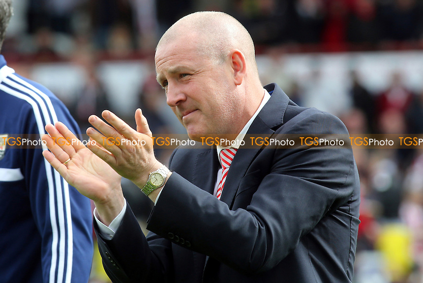 Brentford manager, Mark Warburton - Brentford vs Notts County - Sky Bet League One Football at Griffin Park, London - 05/04/14 - MANDATORY CREDIT: Paul Dennis/TGSPHOTO - Self billing applies where appropriate - 0845 094 6026 - contact@tgsphoto.co.uk - NO UNPAID USE