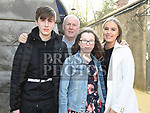 Niamh O'Neill who was confirmed in St Mary's church pictured with her dad Mark, brother Mark and Sister Sarah. Photo:Colin Bell/pressphotos.ie