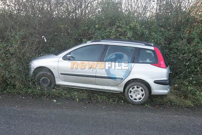 Poor weather condtion's leave three unexpecting drivers in the ditch all within meters of each other on wednesday morning last on the Baymore Cooperhill road near the river nanny...Photo: Newsfile/Fran Caffrey.