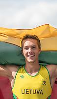 Rotterdam. Netherlands.  LTU JM1X Gold Medalist. Armandas KELMELIS, {WRCH2016}  at the Willem-Alexander Baan.   Sunday  28/08/2016 <br /> <br /> [Mandatory Credit; Peter SPURRIER/Intersport Images]
