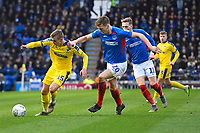 Sean Raggett of Portsmouth right vies with Marcus Forss of AFC Wimbledon during Portsmouth vs AFC Wimbledon, Sky Bet EFL League 1 Football at Fratton Park on 11th January 2020