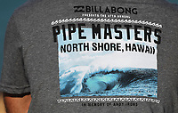 T-Shirt.<br /> 2017 Billabong Pipe Masters, Oahu, Hawaii, USA. World Surf League (WSL). Monday 18 December 2017. &copy; Copyright photo: Andrew Cornaga / www.photosport.nz
