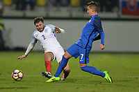 Andrew Cartwright Of England C goes in hard  during Slovakia Under-21 vs England C, International Challenge Trophy Football at Mestsky Stadion on 8th November 2017