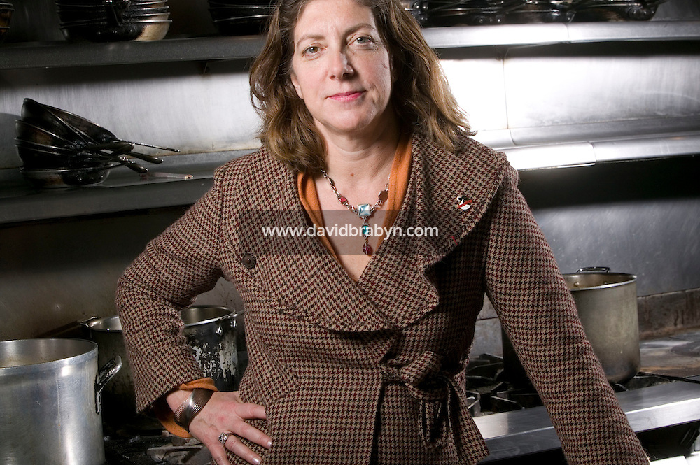 19 December 2006 - New York City, NY - Ariane Daguin, owner of food distribution company D'Artagnan, poses in the kitchen of the Chanterelle restaurant in New York City, USA 19 December 2006.