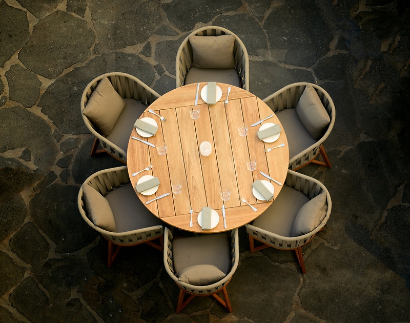 Set table at Four Seasons restaurant. Ko Olina, Oahu, Hawaii