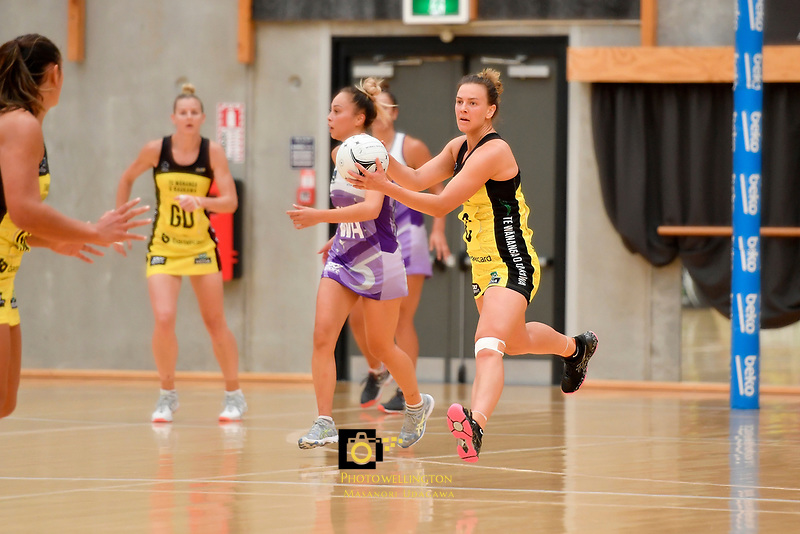 Pulse' Claire Kersten in action during the Netball Pre Season Tournament - Pulse v Stars at Ngā Purapura, Otaki, New Zealand on Saturday 9 February  2019. <br />